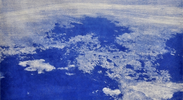 Between water and clouds, woodcut, 70x100 cm, 2015  .jpg