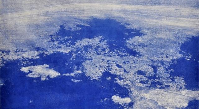 Between water and clouds, woodcut, 70x100 cm, 2015  .jpg
