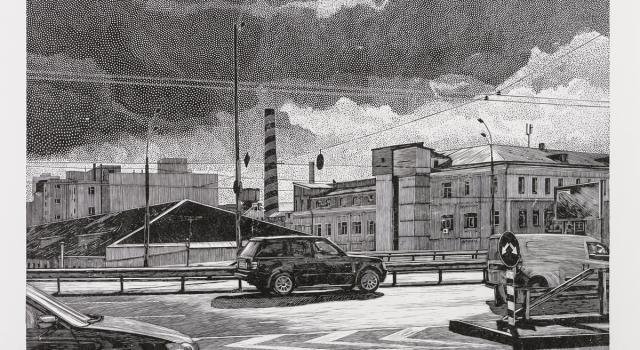Dzhurayeva Olesya, 2, Highway, linocut,  50,2x77,5cm, 2014..jpg