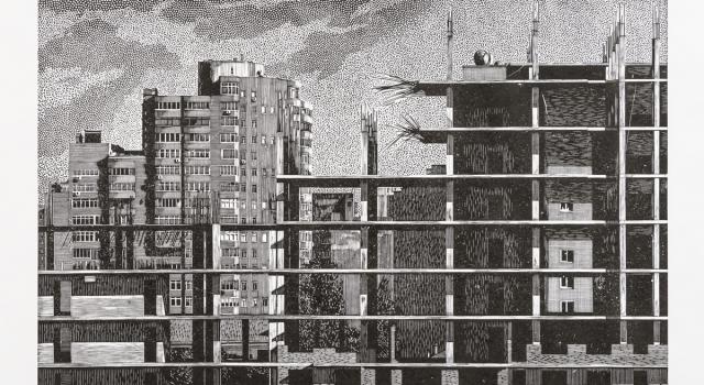 Dzhurayeva Olesya, 3,Construction,2014,50x77,5cm, linocut.jpg