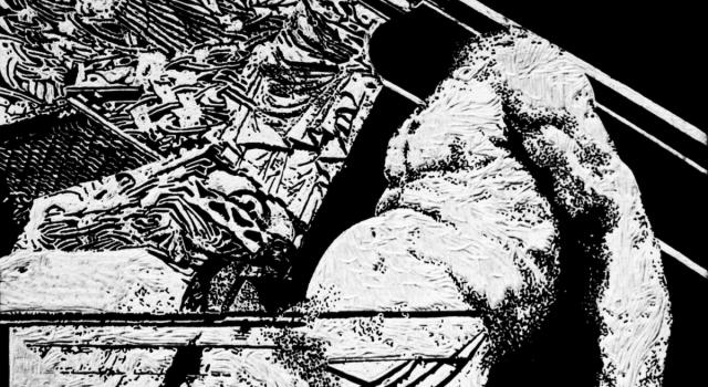 CARATANASE RAZVAN-CONSTANTIN, Incertitude 1, woodcut, 50 x  70 cm, 2015 .jpg