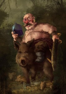 Čuvar kopačkog rita (digitalno slikarstvo)