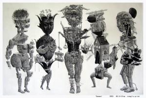5 women (intaglio)