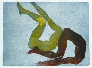 Acrobats I (Etching and Carborundum)