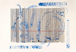 Birth of a line - Genesis II (Lithography)