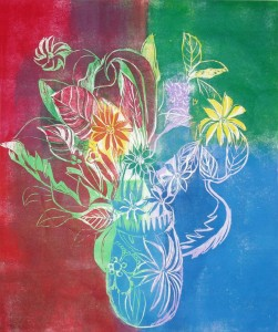 Bouquet (woodblock Print)