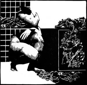 Uncertainty 1  (Woodcut)