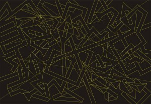Chaos G1-Cross (digital print)