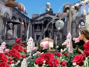 Diocletian garden (digital print)