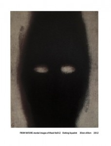 From Nature-mental images of mask No 012 (Etching Aquatint)