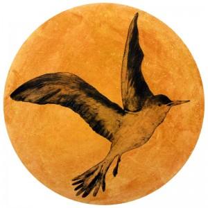 Heliobird (carborundum, drypoint)