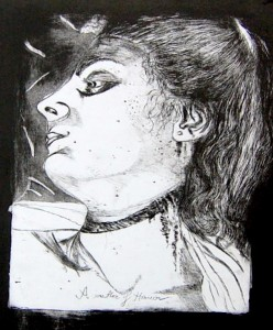Honourkilled girl 2 (drypoint,aquatint)