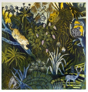 Jungle nights (Etching & aquatint)