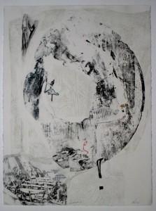 LA ESTACION (Intaglio+Stencil)