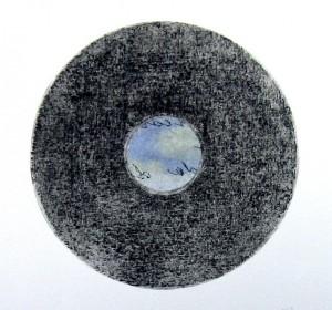 La voix de la Mer (dry point,chine collé on CD)