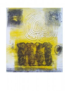 Labyrinth (collagraph)