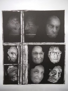 Lost faces (litho)