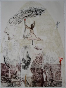 MOVIMIENTO (Intaglio+Stencil)