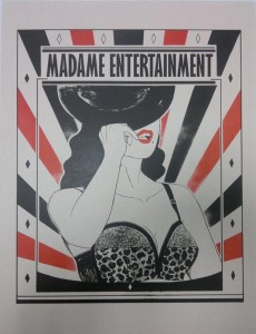 Madame Entertainment III (2 colors lithograph)