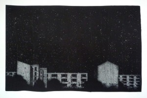 Milkyway-City (linocut)