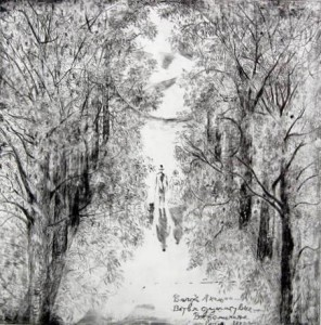 Moonlightwalk (Drypoint,deep,raw etching)