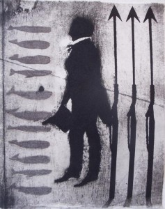 Mr. Howland (acid tint lithograph with pencil drawing)