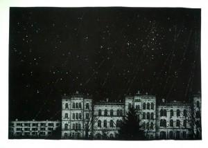 Nocturne-City-Stars (linocut)
