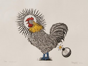 ROOSTER (Woodcut)