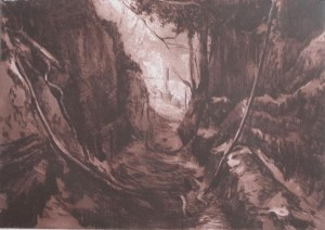 THE LABYRINTH II (intaglio)