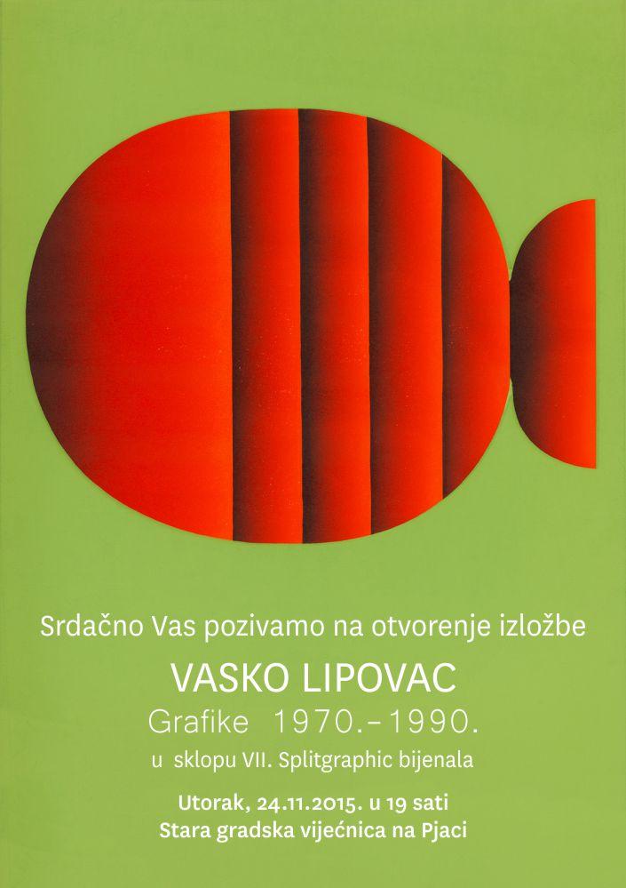 Pozivnica Vasko Lipovac Grafike 1970-1990
